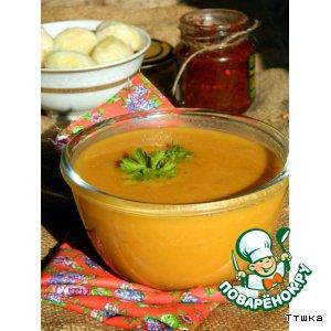 Рецепт Суп-пюре из тыквы и красной чечевицы с картофельными клецками