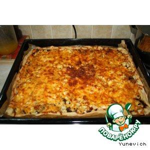 Рецепт Пицца с грибами и цветной капустой