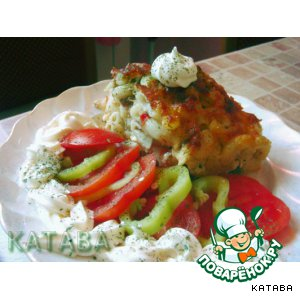 Рецепт Запеканка макаронная с тушенкой, помидорами и колбасным сыром
