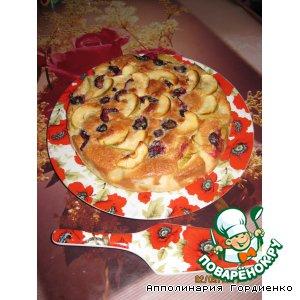 Рецепт Сливово-яблочный пирог