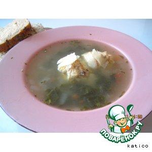 Рецепт Рыбный суп со щавелем и рыбными фрикадельками