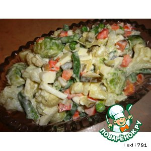 Рецепт Салат из замороженных овощей