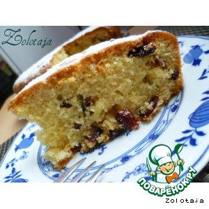 Рецепт Осенний кекс с орехом и клюквой