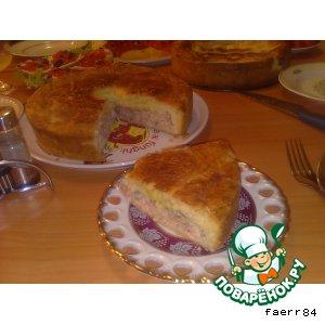 Рецепт Рыбный и персиковый пироги из песочно-дрожжевого теста