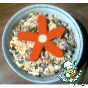 Рецепт Салат из куриной печени с пекинской капустой