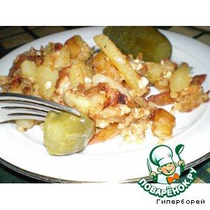 Рецепт Картошечка с колбасным сыром