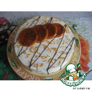 """Рецепт Апельсиново-шоколадный торт """"Приглашение на чай"""""""