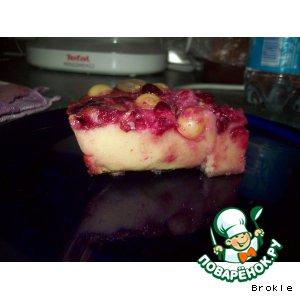 Рецепт Клафути с виноградом и вишенками