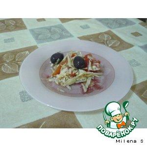 Рецепт Итальянский салат с пармезаном
