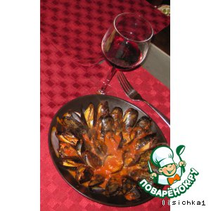 Рецепт Мидии в соусе Маринара