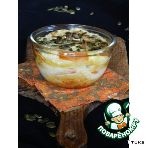 Рецепт Хлебный пудинг с тыквой и тыквенными семечками