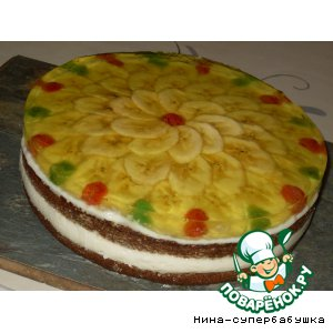 Рецепт Спонтанный банановый тортик