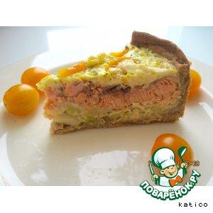 Рецепт Сырно-горчичный пирог с рыбой