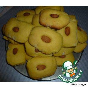 Рецепт Печенье на желтках с миндалем
