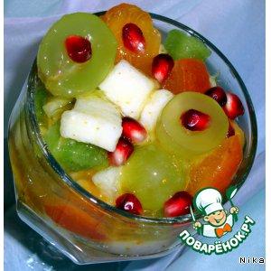 Рецепт: Фруктовый салат с медом и цедрой