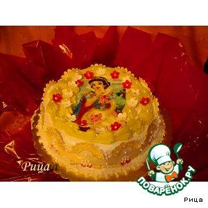 Рецепт Украшение  тортов  вафельными  картинами