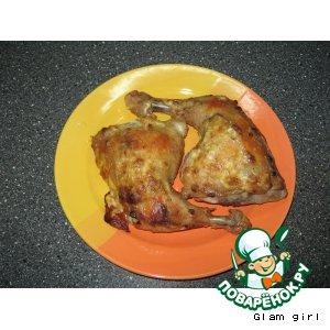 Рецепт Куриные окорочка с сыром в корочке