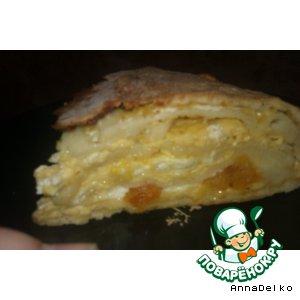 Готовим Пирог с курагой и сыром рецепт с фотографиями
