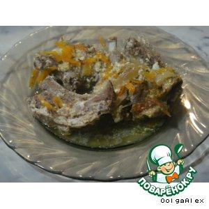 Рецепт Бараньи ребрышки в сметанном соусе