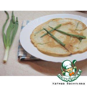 Рецепт Корейские блины с зелeным луком