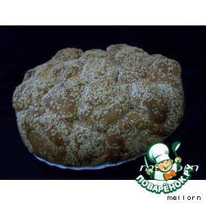 """Рецепт """"Обезьяний""""  хлеб с сыром и кунжутом"""