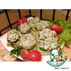 Рецепт Намазка из скумбрии холодного копчения и сливочного сыра
