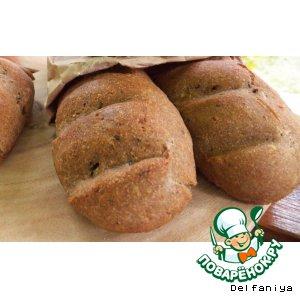 Рецепт Ржано-пшеничный хлеб на пиве с жареным луком