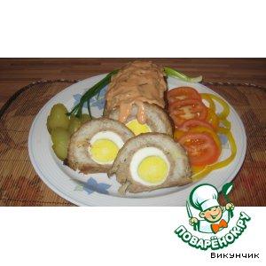 Рецепт Мясной рулет с томатным соусом