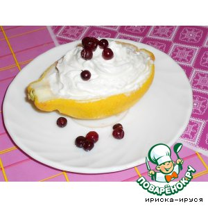 Рецепт Лимоны, фаршированные йогуртовым кремом