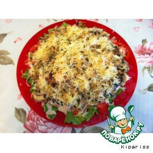 Рецепт Теплый салат с шампиньонами!
