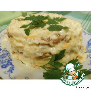 Рецепт: Мясной тортик -Закусочный