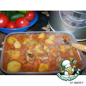 Рецепт Баранина с овощами /Кчуч/ Чанахи