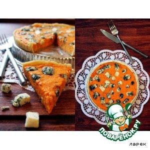 Рецепт Киш с тыквой и сыром Дорблю (Dorblu)