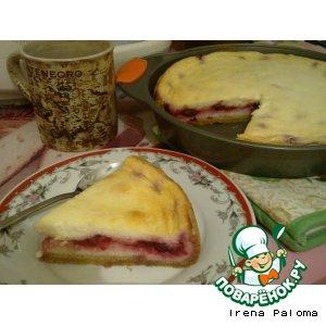 Рецепт Домашний пирог с вишней и творогом
