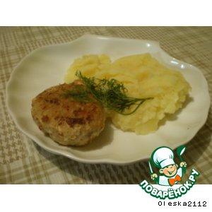 Рецепт Рыбные котлеты с креветочной начинкой
