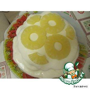 Рецепт Торт сметанник с ананасами