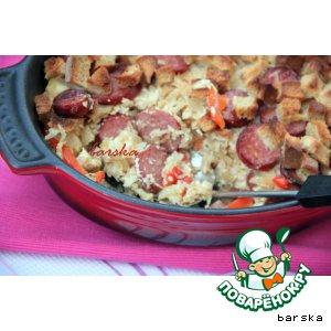 Рецепт Венгерская запеканка из квашеной капусты и риса
