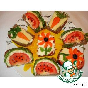 Рецепт Бутерброды закусочные « В ожидании лета»