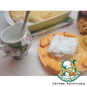 Готовим Творожная запеканка с яблоками и маковым соусом вкусный рецепт с фото