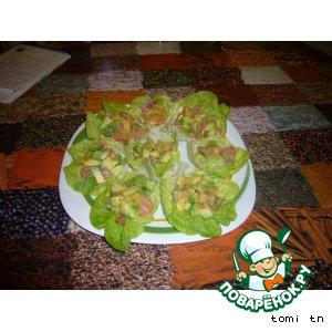 Рецепт Закуска из авокадо с семгой