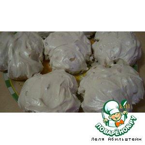 Рецепт Булочки-бантики с белой помазкой