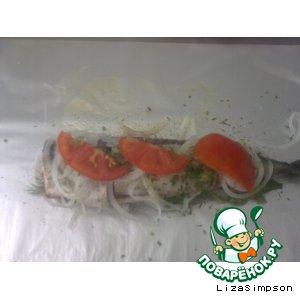 Рецепт Скумбрия на костре в фольге с овощами