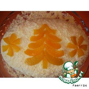 Рецепт Торт в пароварке «Морковный сугроб»