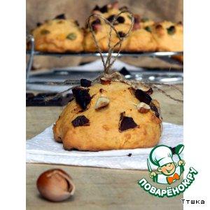 Рецепт Печенье из тыквы с шоколадом и фундуком