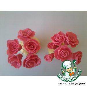 Рецепт Розы из мастики