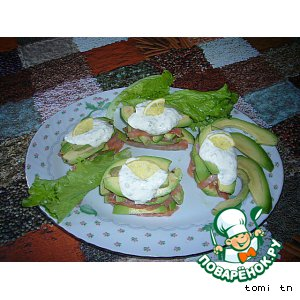 Рецепт Закуска из форели с авокадо