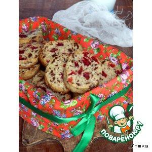 Рецепт Печенье с шоколадом и сушеной вишней