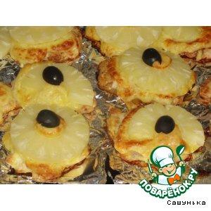 Рецепт Куриное филе под ананасами