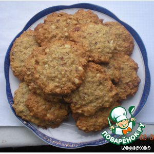 Овсяное печенье с орешками домашний пошаговый рецепт с фотографиями готовим