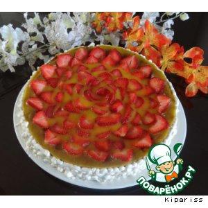 Рецепт Чизкейк с манго и клубникой